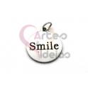 Pendente Aço Inox Smile - Prateado (15mm)