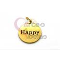 Pendente Aço Inox Happy - Dourado (15mm)