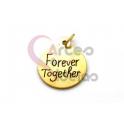 Pendente Aço Inox Forever Together - Dourado (15mm)