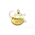 Pendente Aço Inox Family - Dourado (15mm)