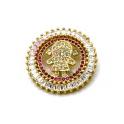 Pendente AQ Menina Cristal Rosa - Dourado (26mm)