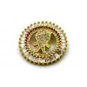 Pendente AQ Menino Cristal - Dourado (26mm)