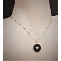Fio Aço Inox Missangas Black Star - Dourado