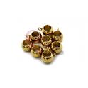 Pack Contas Aço Inox Bolinha 8mm c/Argola Pendente - Dourada (Ø 5mm) - [8unds]