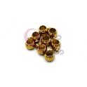 Pack Contas Aço Inox Bolinha 6mm c/Argola Pendente - Dourada (Ø 4mm) - [8unds]