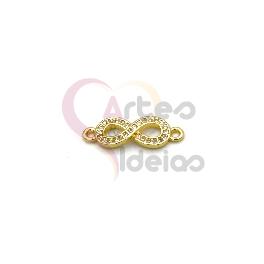 Pendente AQ Infinito Brilhantes - Dourado (7x15mm)