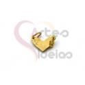 Conector Aço Inox Mini Coração - Dourado (6x11mm)