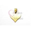 Pendente Aço Inox Coração Ponteagudo - Dourado (20mm)