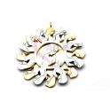 Pendente Aço Inox Multi Nossa Senhora - Prateado e Dourado (35mm)
