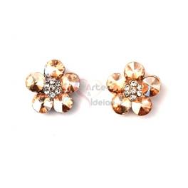 Brincos Fashion Mood Flor Gold