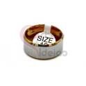 Anel Aço Inox Liso - Prateado e Dourado