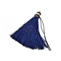 Pompom de Seda Comprido LR - Azul (90mm)