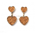 Brincos Fashion Mood 2 Corações - Natural