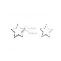 Brincos Aço Estrelas - Prateadas