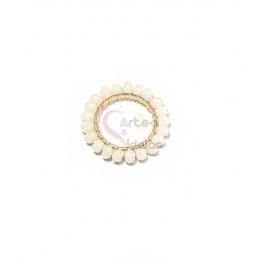 Pendente Aro de Cristais Brancos - Dourado (20mm)
