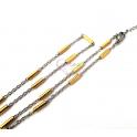 Fio Aço Inox Completo Canutilho Dourado (2mm) - Prateado e Dourado [42cm]