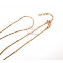 Fio Aço Inox Completo Malha Snake com Bolinhas (2mm) - Dourado [42cm]