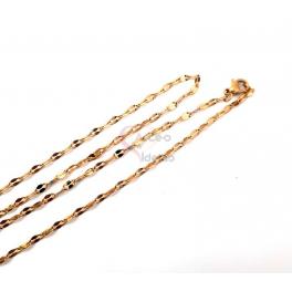 Fio Aço Inox Completo Elo Cadeia - Dourado [45cm]