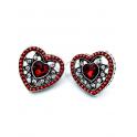 Brincos Fashion Mood Coração - Vermelhos