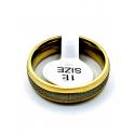 Anel Aço Inox Estilo Aliança [28748] - Prateado e Dourado