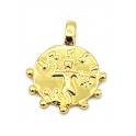 Pendente AQ Medalha Imperio Romano - Dourado (14mm)