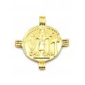 Pendente AQ Medalha Imperio Romano Julius Caesar - Dourado (28mm)