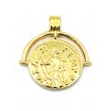 Pendente AQ Medalha Imperio Romano Tempor - Dourado (25mm)