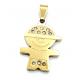 Pendente Aço Inox Menino Bling - Dourado (20x16mm)