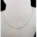 Fio Aço Inox Completo Snake Canutilho Dourado - Prateado [45cm]