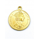 Pendente AQ Elizabeth II / Dos Pesos - Dourado (20mm)