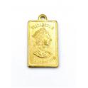 Pendente AQ Rectangular Elizabeth II / Credit Suisse - Dourado (20x12mm)