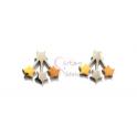 Brincos Aço 3 Estrelas - Cores
