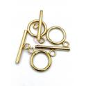 PACK 3 Fecho Aço Inox em T (14mm) - Dourado
