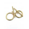 PACK 2 Fecho Aço Inox em T (22mm) - Dourado
