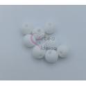 Pack Contas Silicone 8mm - Branco (8 contas)
