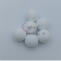 Pack Contas Silicone 12mm - Branco (6 contas)