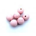 Pack Contas Silicone 12mm - Rosa Bebé (6 contas)