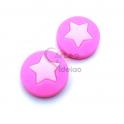 Pack Contas Silicone com Estrelas - Rosa com Rosa Bebé (2 contas)