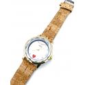 Relógio em Aço Mãe Bracelete Cortiça