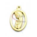 Pendente Aço Inox Aro Nossa Senhora - Dourado (24x18mm)