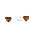 Brincos Aço Corações Fecho de Rosca - Dourados