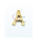 Pendente Aço Inox Letra A - Dourado (15mm)