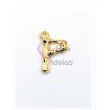 Pendente Aço Inox Letra P - Dourado (15mm)