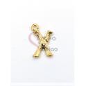 Pendente Aço Inox Letra X - Dourado (15mm)