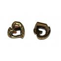 Conta Metal Coração Martelado - Bronze (Extra-grosso)