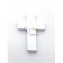 Pendente Cruz de Madeira - Branco (34x24)
