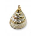 Pendente Buzio estilo Farol - Rebordo Dourado (25x23mm)