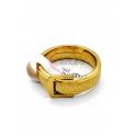 Anel Aço Inox Fivela - Dourado