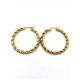 Brincos Aço Argola Malha Twist - Dourado (35mm)
