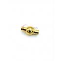 Fecho Aço Inox Redondo Bolinha - Dourado (3mm)